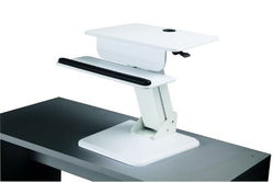 Table top Sit to Stand Platform in white finish